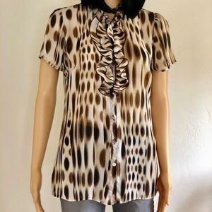 East 5th, women's size M, sheer blouse
